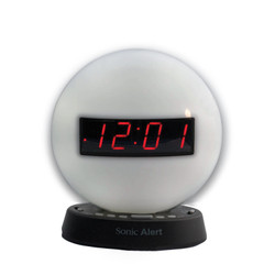 alarm clock with USB charging port